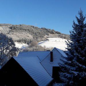 Winteraussicht von der Ferienwohnung